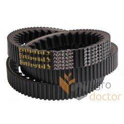 Вариаторный, зубчатый, двосторонний комбайновый ремень 43J-2440 [Continental AGRIDUR] - 667530 Claas