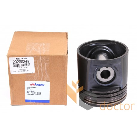 Piston with pin for engine -  B33607D Perkins, 3 rings, 105.0+1.02mm