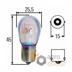 Лампа 12V 21W P21W-BA15S [Hella]