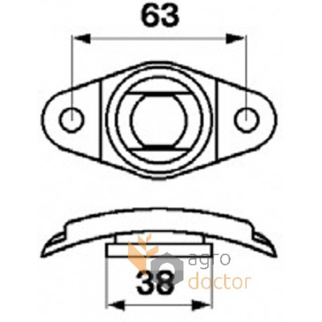 Auger finger guide 777199 Claas (603754 Claas)