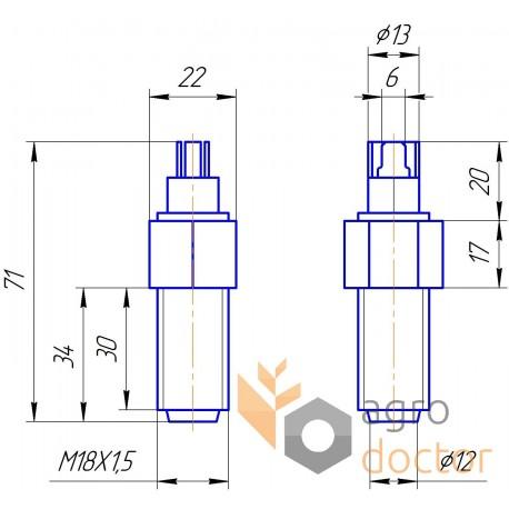 Inductive sensor - 676835 Claas