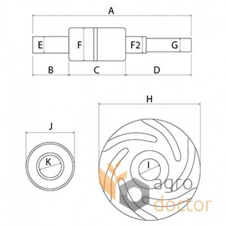 Ремкомплект водяної помпи 30/131-48 [Bepco]