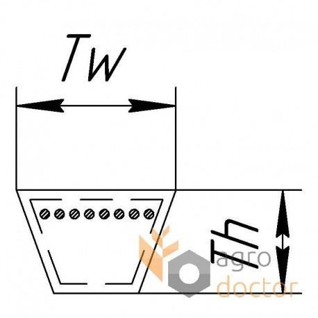 Приводной клиновой ремень HС186 [Carlisle]