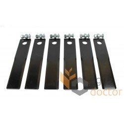 Ножі подрібнювача (комплект) AH171588-DB січкарні комбайна John Deere [AM]