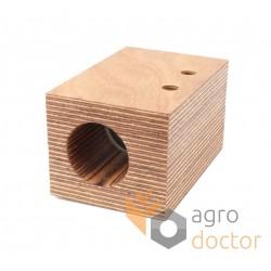Wooden bearing AZ45586 John Deere - d38mm shaft of straw walker [TR]