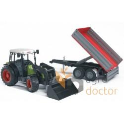 Игрушка - трактор Claas NECTIS 267F з прицепом