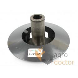 Диск варіатора з корпусом-фланцем нерухомий d30мм