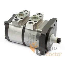 Double section hydraulic gear pump 656860 for Claas combine [Hydropac]