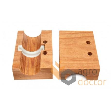 Wooden bearing AZ45586 John Deere - d38mm shaft of straw walker