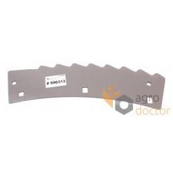Нож 996313.0 измельчителя жатки комбайна Claas Jaguar - правый, 368х122х3мм