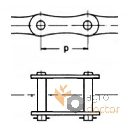 216AH [Rollon] Roller chain connecting link