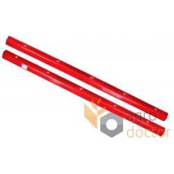 Set of rasp bars 3373370M2, 3373372M2 for Massey Ferguson combines