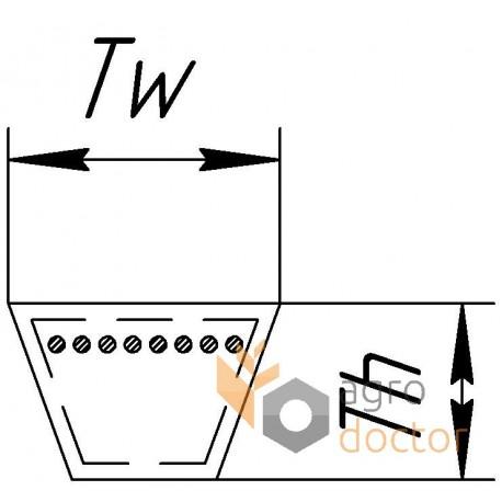 Привідний клиновий ремінь C-4675Lw (C182) [Roulunds]