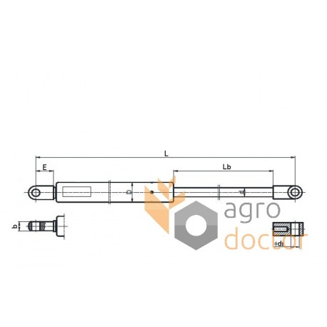 Spring cylinder for hood - 609635 Claas [Original]