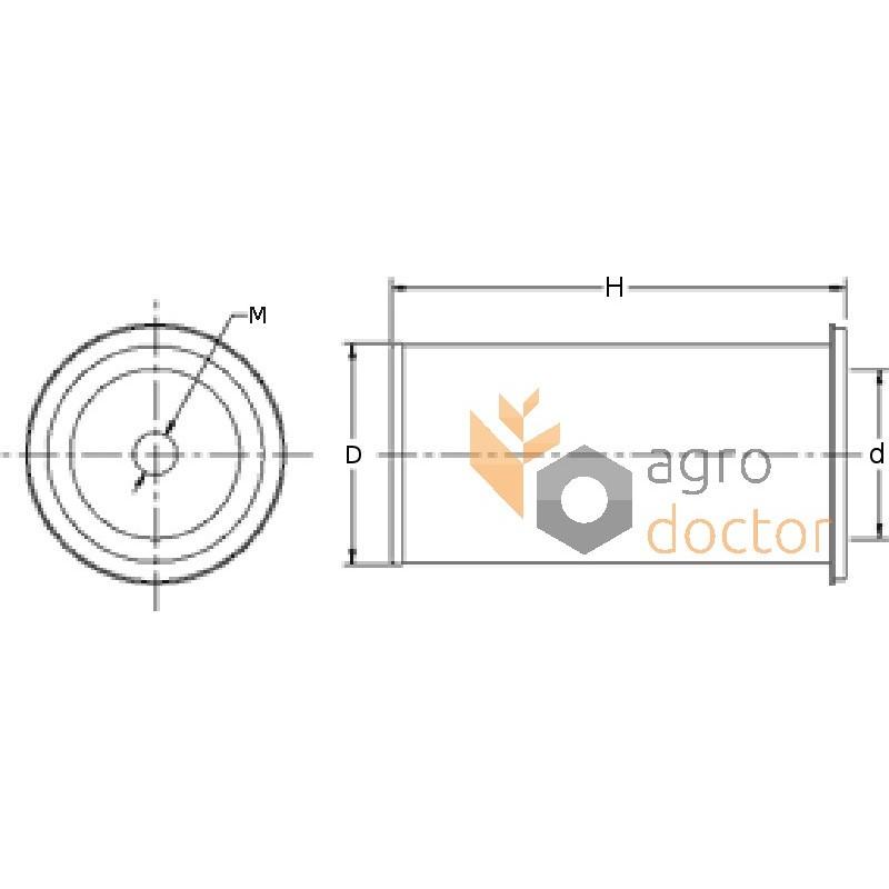 air filter element af4103  fleetguard
