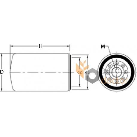 Фильтр топливный 95107E [WIX]