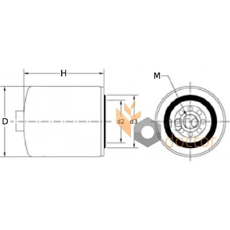 Фильтр топливный RE525523, RE541746, комплект [John Deere]