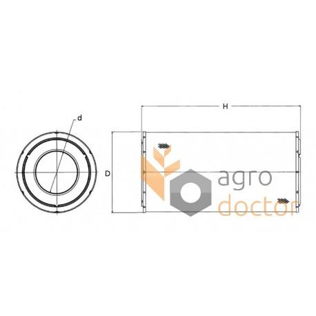 Фильтр воздушный C13154 [MANN]