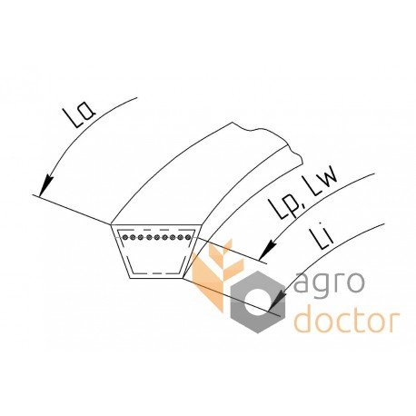 Варіаторний комбайновий ремінь 0112166 [Gates Agri]