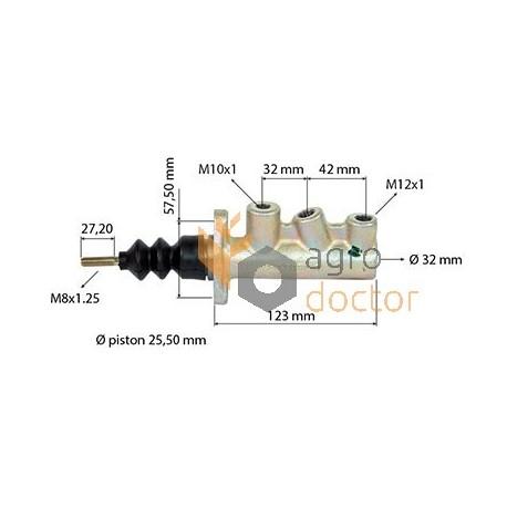 Комбайн MF гальмівна Головний циліндр головний