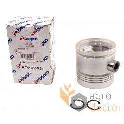 Piston with pin for engine - 741335M91 Massey Ferguson [Bepco]
