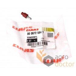 Зворотній клапан розподільника 0006725841 гідросистеми комбайна Claas [Original]