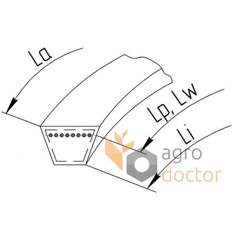 Привідний клиновий ремінь B-3040 (B118) [Roulunds]