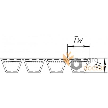 Ремінь багатоклиновий 2800 - 4HB [Stomil]
