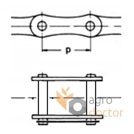 Соединительное звено роликовой цепи 12A-1 [Rollon]