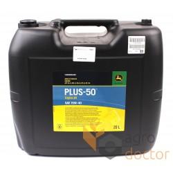 Моторное масло John Deere PLUS-50 SAE 15W40, 20л