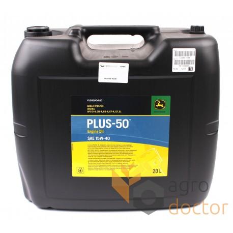 Engine oil John Deere PLUS-50 SAE 15W40, 20L