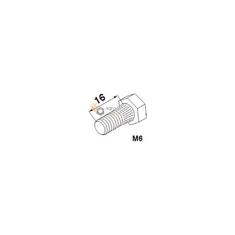 Болт М6х16 сегмента жатки з гайкою - 187001200 Claas [Schumacher]