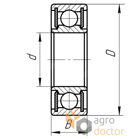 180203 (6203-2RSR-C3) [FAG] Пiдшипник кульковий