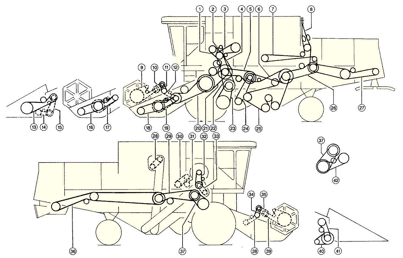 Combine Harvester Schematic Diagram : Diagram of combine harvester images how